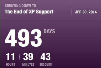 Wsparcie dla Windows XP wygasa za 493 dni